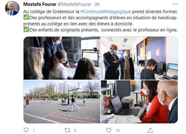 Au collège Claude Cornac Visite de M le Recteur Mostafa Fourar sur Twitter.png